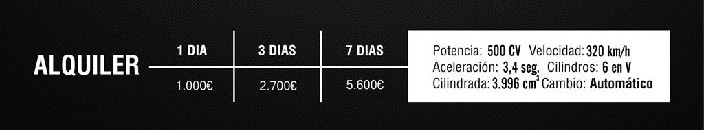 Prices Porsche GT3 for rent in Barcelona, Ibiza and Valencia